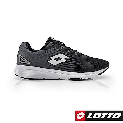 LOTTO 義大利 男 SPEEDRIDE 疾速輕量跑鞋 (黑灰)
