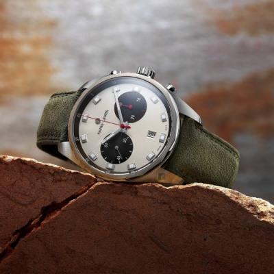 Favre-Leuba 域峰錶 熊貓配色 Sky Chief Chronograph 雙眼機械計時手錶(00.10202.08.22.49)