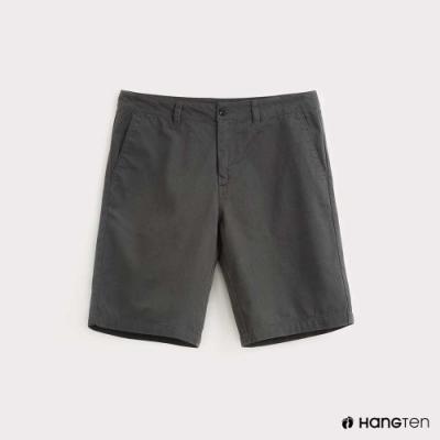 Hang Ten-男裝-純色素面百慕達短褲-灰