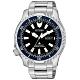 CITIZEN 限量河豚艦隊機械潛水錶(NY0098-84E)-藍x黑/42mm product thumbnail 1