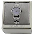 MICHAEL KORS 經典滿版水鑽不鏽鋼手錶(粉紫)