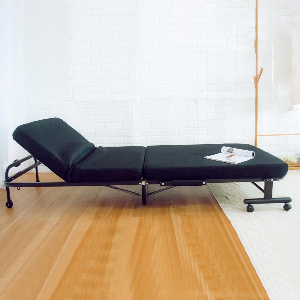 AS-捷克黑色折合床-96x211x32cm
