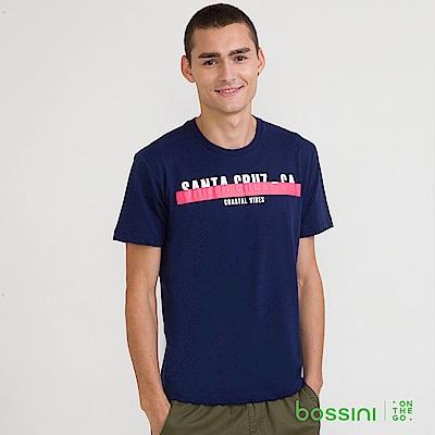 bossini男裝-圓領短袖T恤14海藍