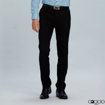 G2000暗紋單品西褲-黑色