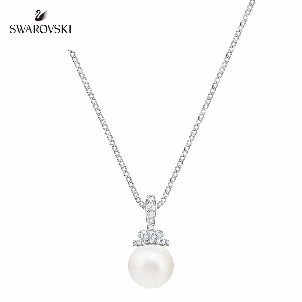 施華洛世奇 Originally 白金色精緻優雅珍珠項鏈