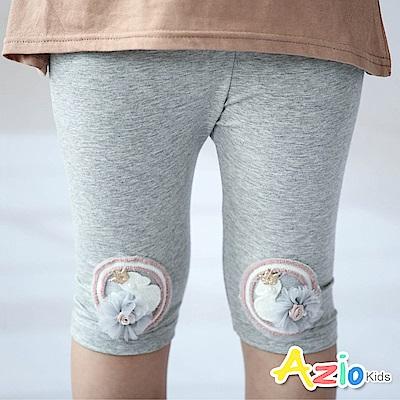 Azio Kids  內搭褲 圓圈珠珠皇冠內搭褲(灰)