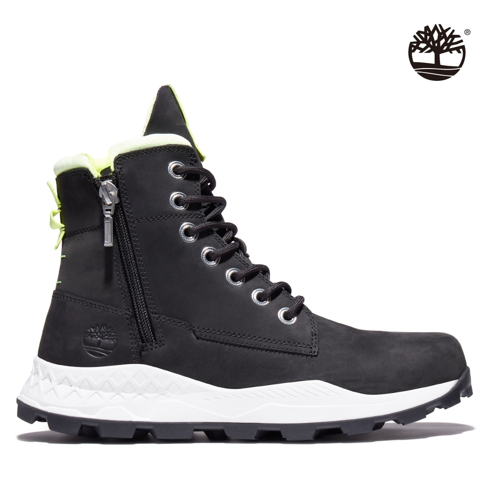 Timberland 男款黑色磨砂革側拉鍊靴 A2HV7