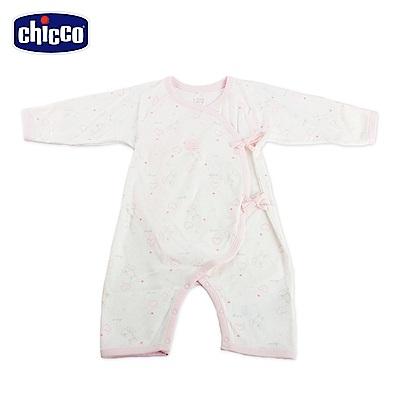 chicco-印花肚衣式兔裝-粉(3-6個月)
