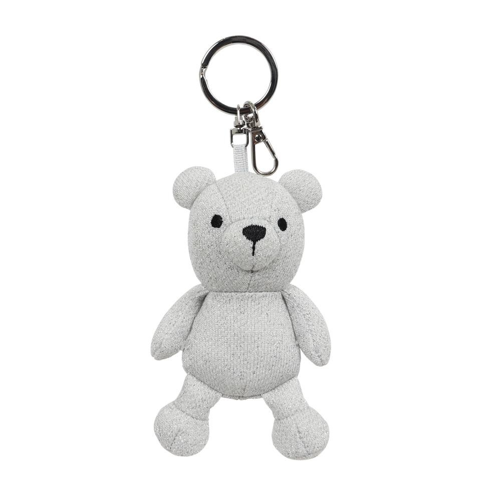 agnes b. café b bear銀色小熊鑰匙圈