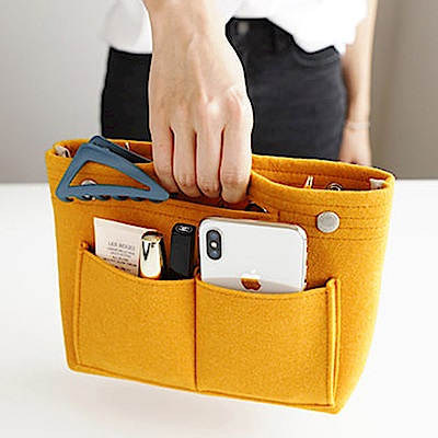 E-dot 多功能毛氈布多口袋收納包(二色)