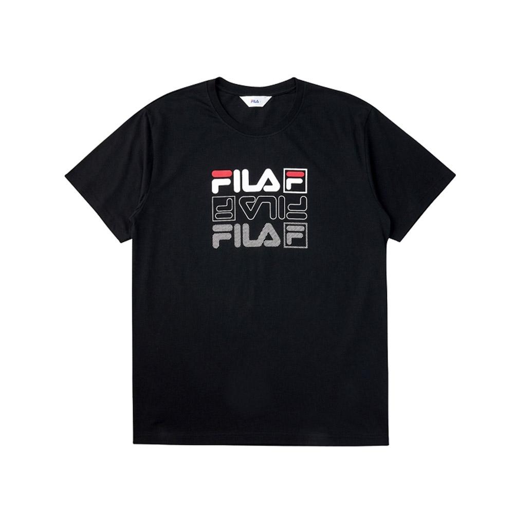 FILA 短袖圓領T恤-黑色 1TEV-1514-BK