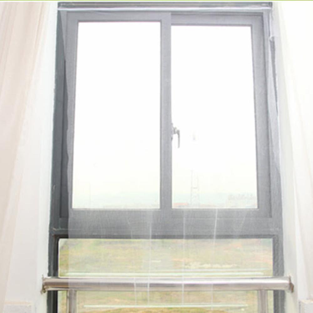 挪威森林 創意DIY自黏型防蚊紗窗/隱形紗網2入-附魔術貼