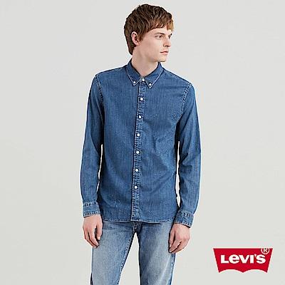 Levis 男款 牛仔襯衫 無口袋