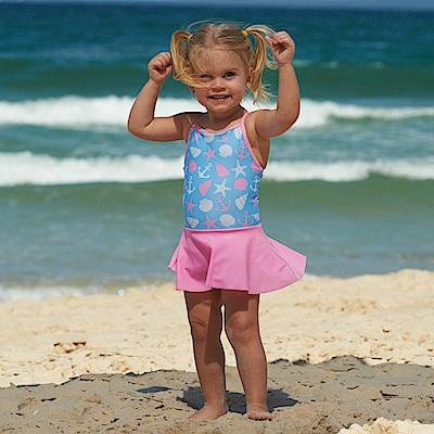 澳洲 RASHOODZ 兒童抗UV防曬一件式裙擺連身泳裝 (海洋甜心)