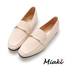 Miaki-樂福鞋韓風穿搭平底休閒包鞋-米