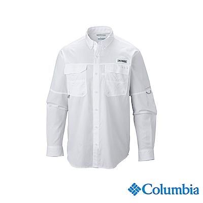 Columbia 哥倫比亞男款-UPF50 防潑長袖襯衫白色 UFM70460WT