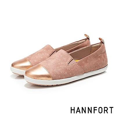 HANNFORT CALIFORNIA繽紛雪花金頭鞋-女-甜梅粉