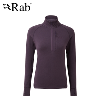【RAB】Power Stretch Pro 保暖排汗衣 女款 無花果紫 #QFE63