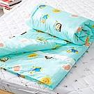 奶油獅 同樂會系列-台灣製造-100%精梳純棉兩用被套(湖水藍)-7X8雙人特大