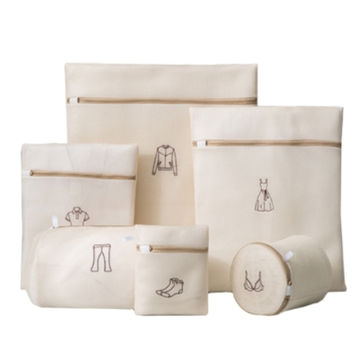 PUSH!居家生活用品洗衣機專用防變形洗衣袋洗毛衣網洗衣機網袋護洗袋大號六件套I85