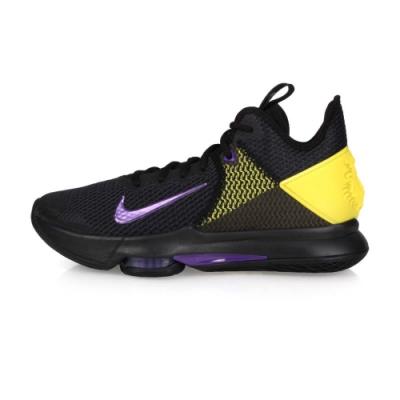 NIKE 男限量-籃球鞋 LEBRON WITNESS IV 黑紫黃