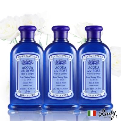 義大利LineaNatura玫瑰嫩膚保濕化妝水250ml三入