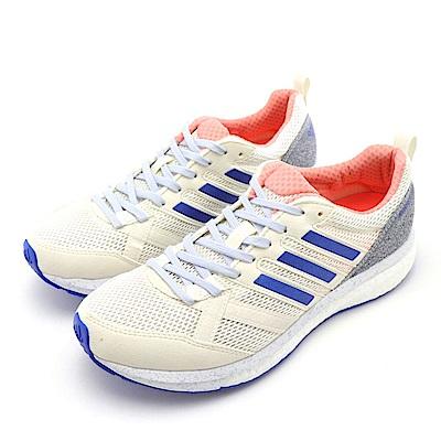 ADIDAS-ADIZERO TEMPO 9 女慢跑鞋-米白