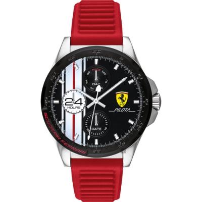 Scuderia Ferrari 法拉利 條紋日曆手錶(FA0830657)-42mm