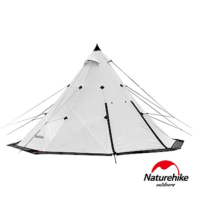 Naturehike 金字塔八角雙層帳篷 印地安露營帳3-4人 象牙白
