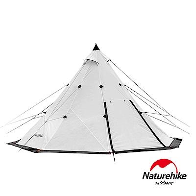 Naturehike 金字塔八角雙層帳篷 印地安露營帳3-4人 象牙白-急