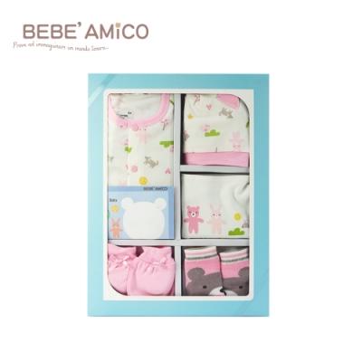 BEBE AMiCO-動物日記-妙妙裝禮盒(超值彌月禮盒五件組)