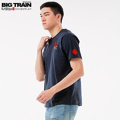 BigTrain潮人達磨基本圓領T-男-暗藍
