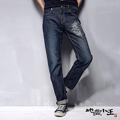 地藏小王 BLUE WAY 地藏半臉鋁片低腰直筒褲