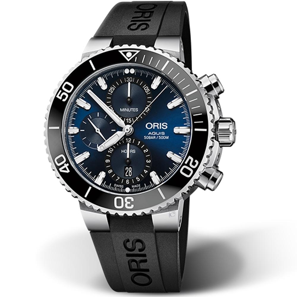 Oris豪利時AQUIS計時潛水機械錶(0177477434155-0742464EB)