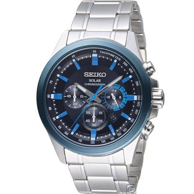 SEIKO 精工Criteria太陽能計時腕錶(SSC683P1)