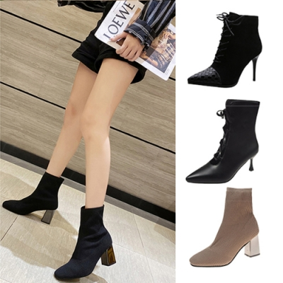 韓國KW美鞋館-限量爆殺-輕鬆百搭優雅中短筒靴系列(共7款可選)