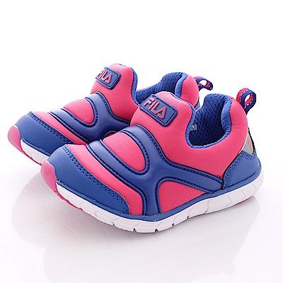 FILA頂級童鞋款 超輕量便鞋款 EI51P-322藍桃(中童段)0