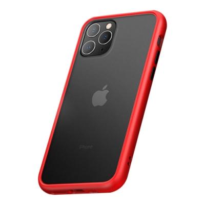 TOYSELECT iPhone 11 Pro Max火星盾減震矽膠防摔手機殼:紅黑撞色