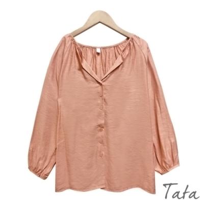 V領排扣雪紡上衣 共三色 TATA-F