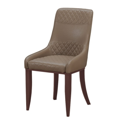 MUNA 麗昂棕色皮餐椅/休閒椅 50X60X95cm
