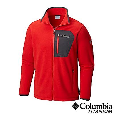 Columbia 哥倫比亞 男款-鈦 Polar刷毛外套-紅UAO30950RD