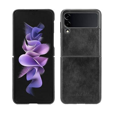 Metal-Slim Samsung Galaxy Z Flip 3 5G 皮革漆膚感貼皮保護殼