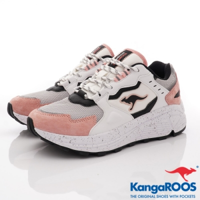 KangaROOS ESCAPE 潮流山系老爹鞋-01203白粉(女段)