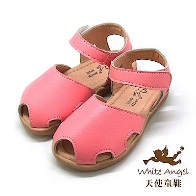 天使童鞋 簡約和尚涼鞋(小童)i926-粉