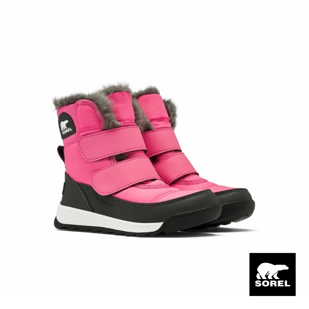 SOREL-WHITNEY II 小童戶外休閒中筒靴-粉紅色