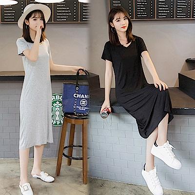 【韓國K.W.】復古上城休閒洋裝-2色