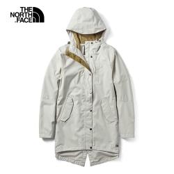 The North Face北面女款米色戶外防水透氣衝鋒衣|3VU411P