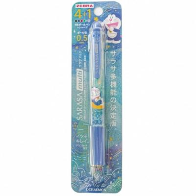 日本ZEBRA哆啦A夢SARASA multi機能筆4+1原子筆自動鉛筆