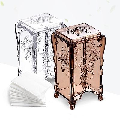 E-dot 復古華麗圖騰化妝棉收納盒(二色)