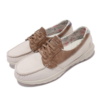 Skechers 休閒鞋 Go Walk Like 帆船鞋 女鞋  郊遊 踏青 健走 好穿脫 輕量 緩震 淺褐 棕 136098-TPE